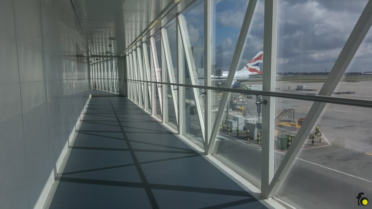 There is no shortage of long corridors at Heathrow.
