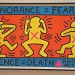 Keith Harring, Ignorance = Fear / Silence = Death, 1989.